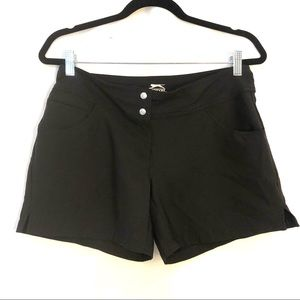 Slazenger Stretch Basic Black Athletic Shorts